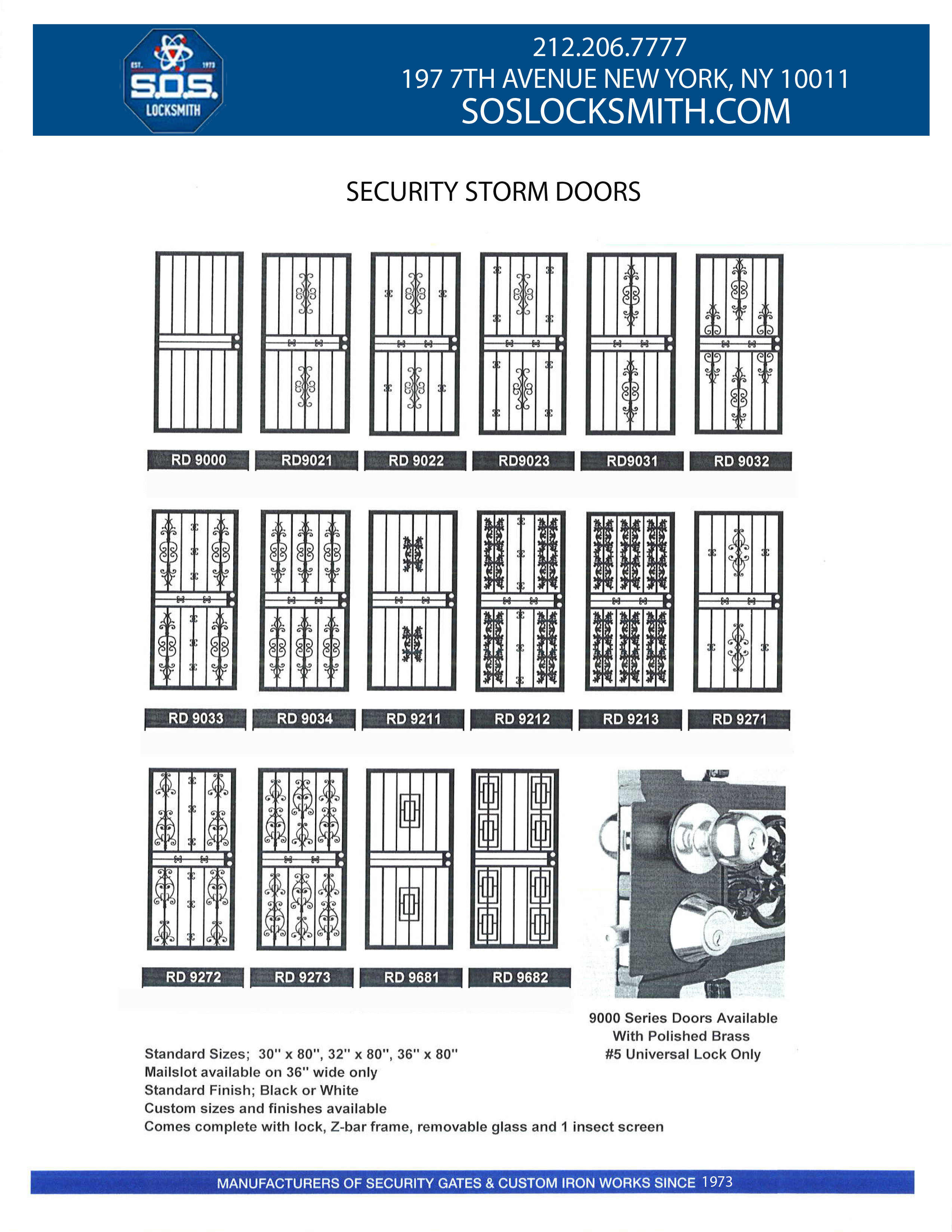 Storm door or Iron Work Doors NYC