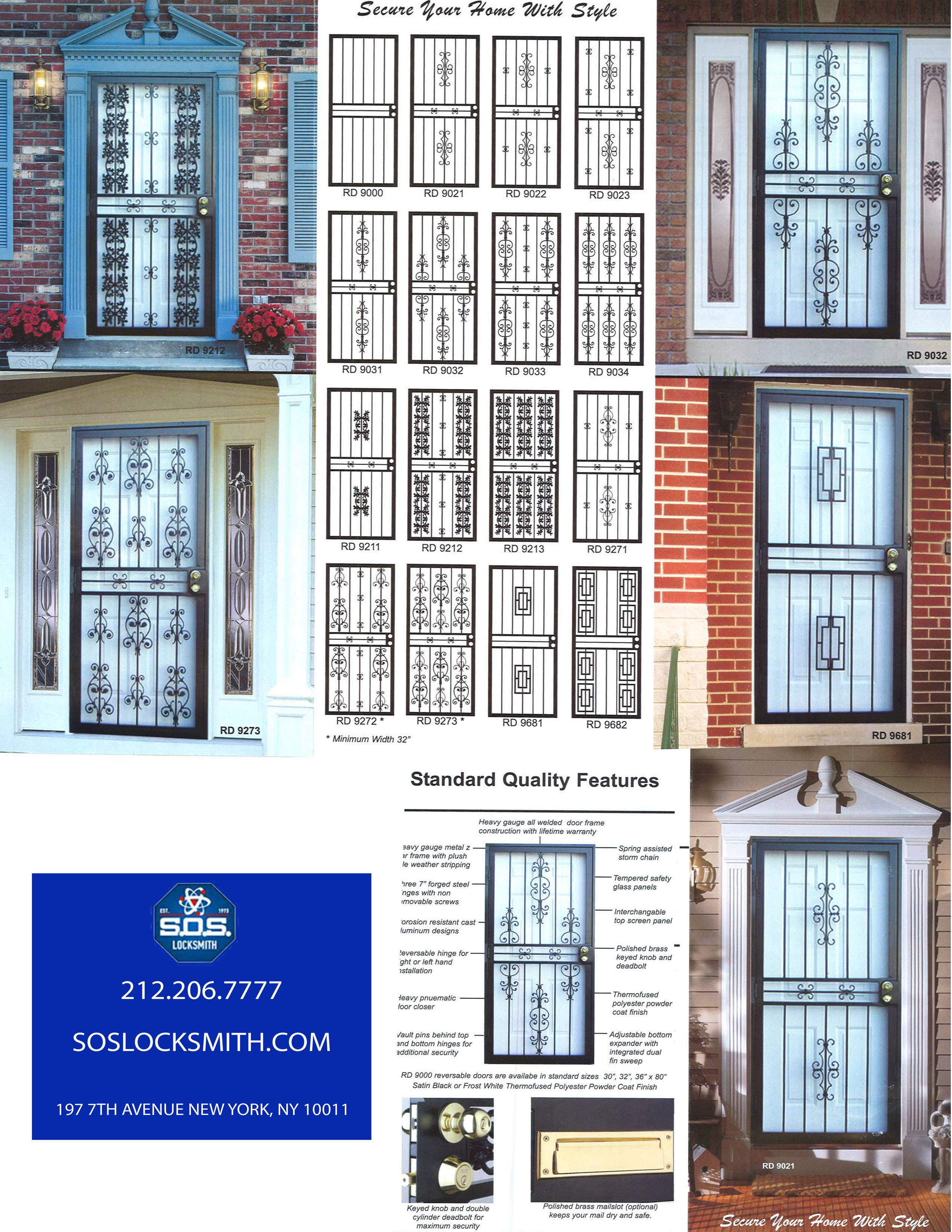 stormdoor / Ironwork door NYC